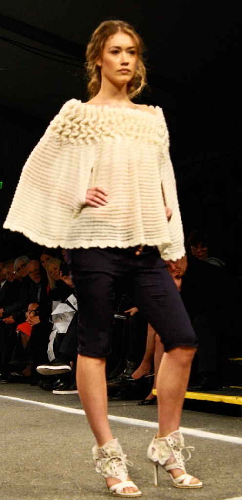 Yes, that's a cream-colored lacy cape. Sign me up, please.